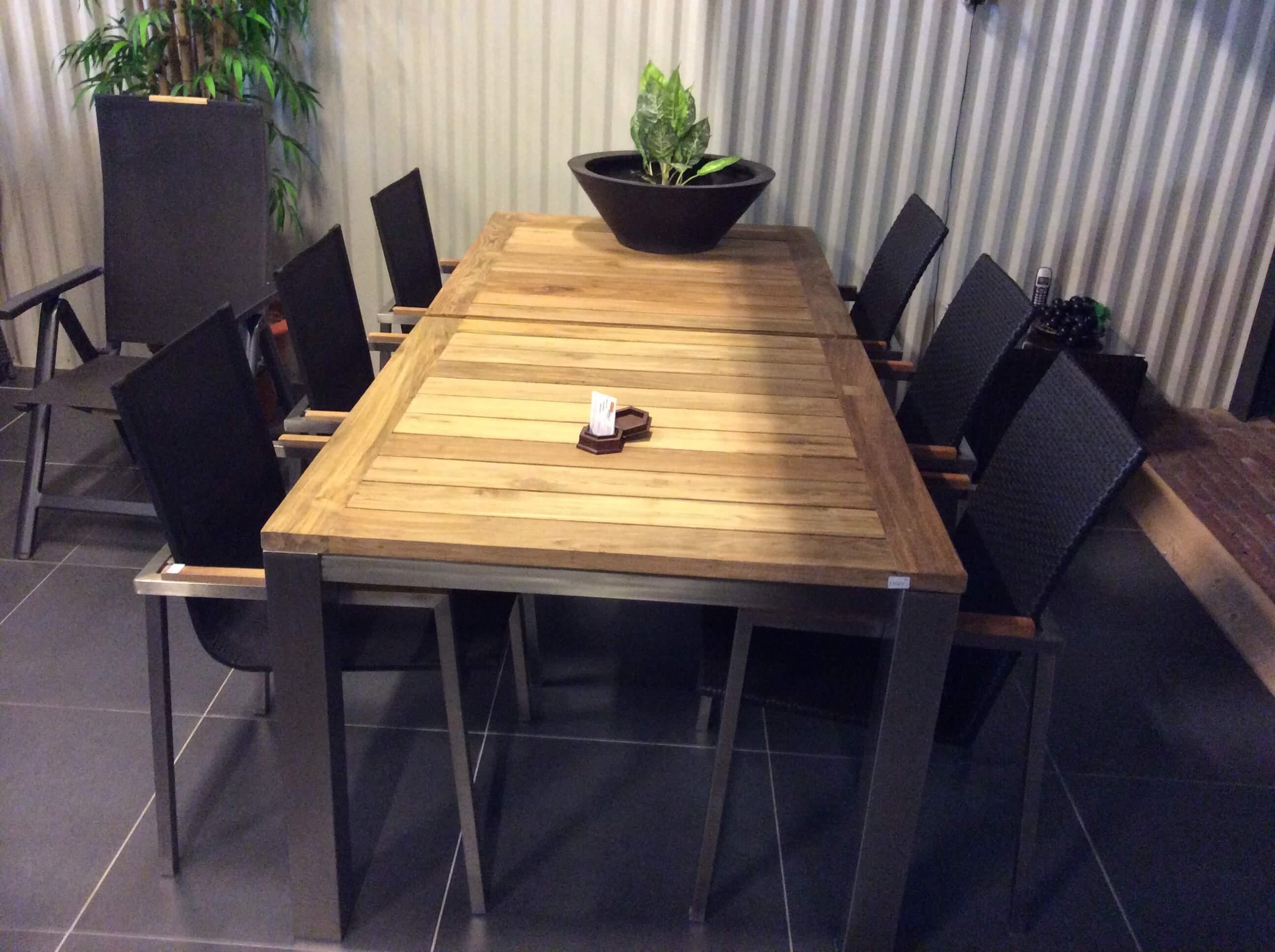 Rvs tuintafels tuintafel rvs rvs tafels voor in de tuin